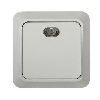 Выключатель 1-кл. BOLLETO с подсвет. накл. 7121 бел. ASD / IN HOME 4680005959754