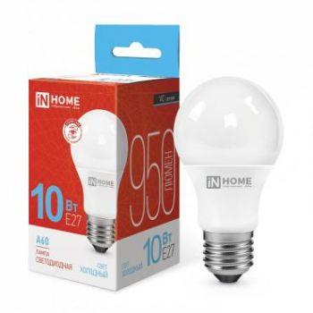 Лампа светодиодная LED-A60-VC 10Вт 230В E27 6500К 900Лм IN HOME 4690612020228